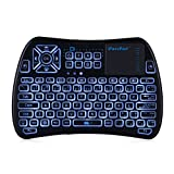 [Update Version] EARME iPazzPort 3 in 1 IR Learning Function 2.4GHZ Wireless Backlit Mini Keyboard with TouchPad and Mouse for Xbox,Android TV Box,Laptop,Desktop,Projector&Smart TV (Color: Kp-810-61 Black)
