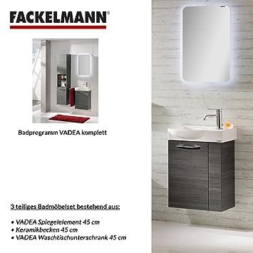 Fackelmann VADEA 3 Tlg. Bathroom Furniture Set - Floor Unit/Sink/Mirror