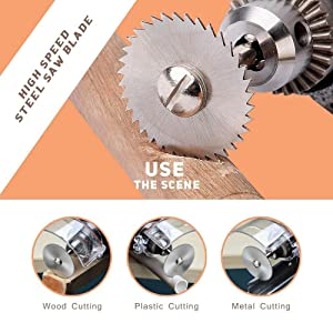 WREOW 6pc 1/8 Shank High Speed Steel HSS Saw Disc Wheel Cutting Blades with Mandrels for Dremel Fordom Drills Rotary Tools (Color: Silver-6pcs)