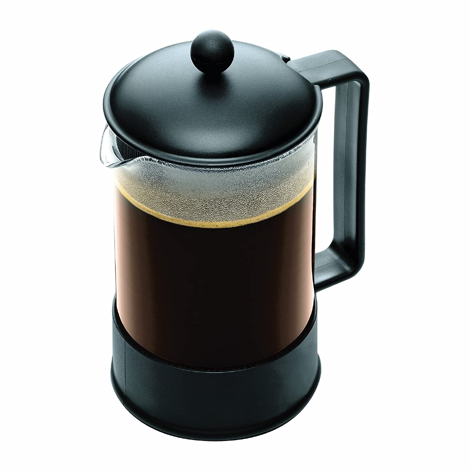 French Press Coffee Maker Cholesterol : New Bodum Brazil 1 1 2 Liter French Press Coffee Maker 12 Cup Black Free SHIP eBay