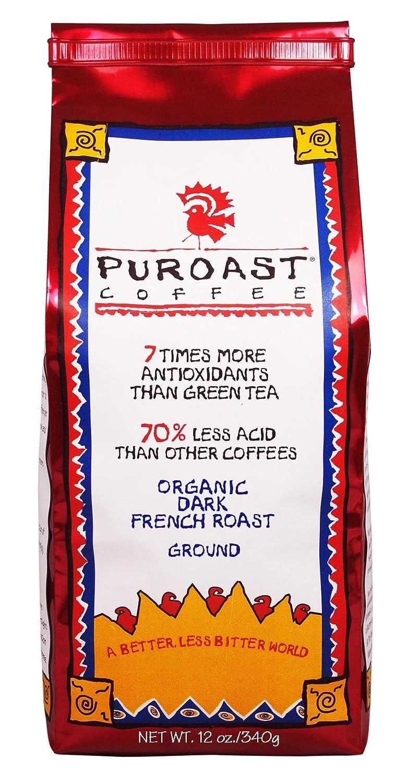 Puroast French Roast Ground Coffee, 12 Ounce Bag