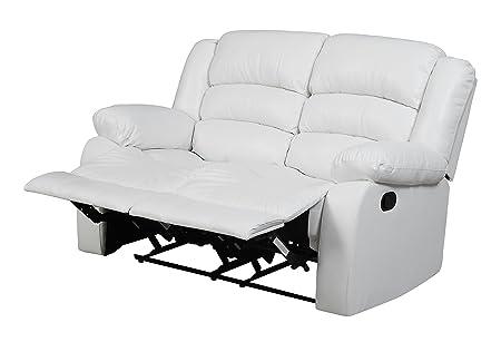 Glory Furniture G947-RL Reclining Loveseat, White