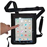e-Holster iPad Carrying Case with Shoulder Strap and Touch Capacitive Screen Protector (Color: Black)