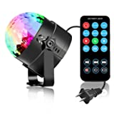 SUKY Disco Ball Disco Light 3w Party Lights led Music Atctivated Strobe Lights for Home Room Dance Parties DJ Lightshow for Birthday Club Karaoke Wedding Decorations (Color: Color-7colors, Tamaño: Other)