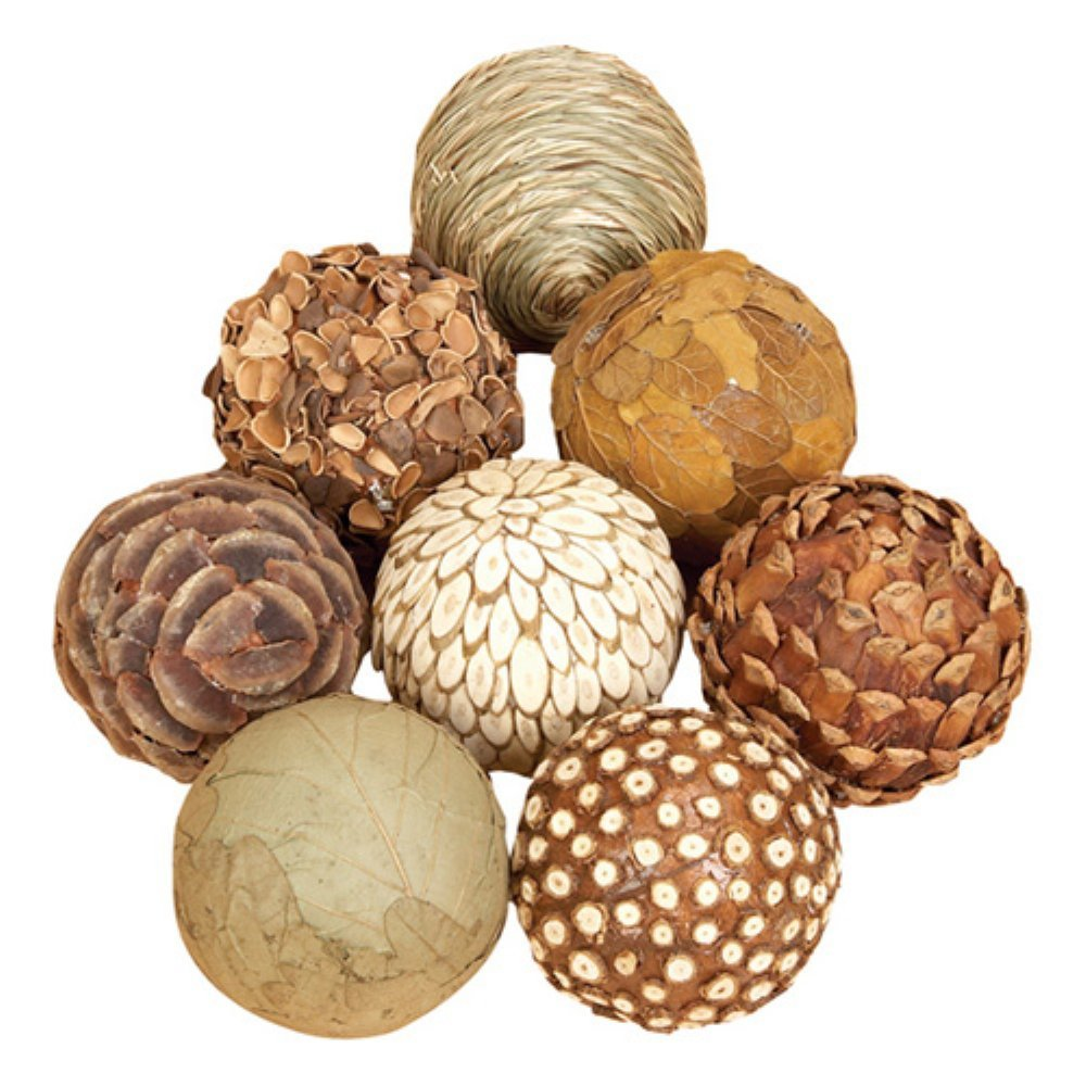 Decorative 3 Balls Spheres Orbs Set 8 Multi Colors
