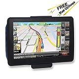 GPS for Car, 7 Inches Lifetime Map Update Spoken Turn-to-Turn Navigation System for Cars, SAT Nav (Color: Model S.)