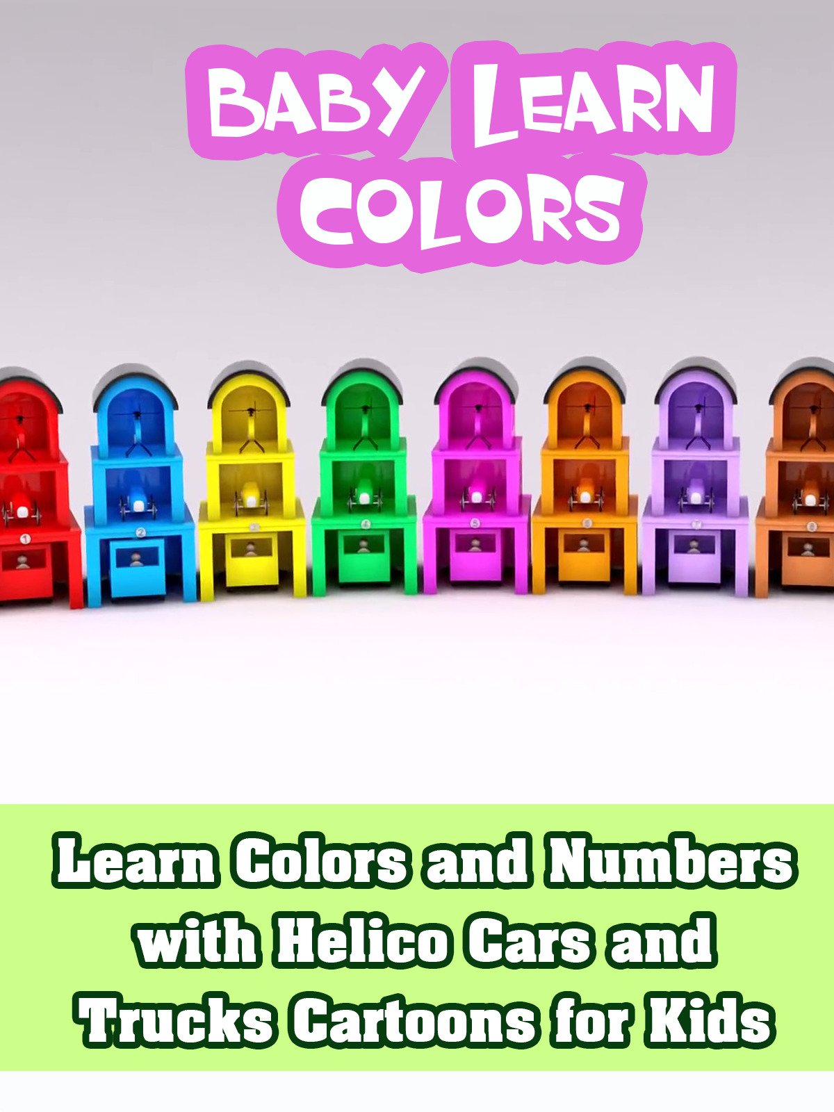 Learn Colors and Numbers with Helico Cars and Trucks Cartoons for Kids on Amazon Prime Video UK