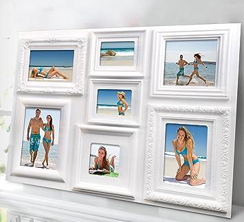 bilderrahmen 7 fotos collage barock kunststoff rahmen. Black Bedroom Furniture Sets. Home Design Ideas