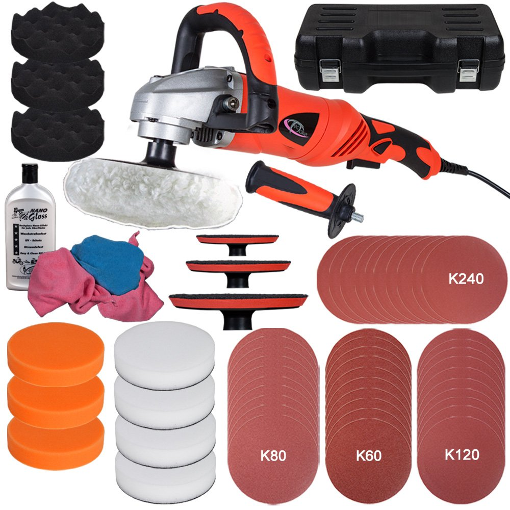 TecTake® 1400 Watt Poliermaschine 03000 U/min + Set13  BaumarktKundenbewertung und Beschreibung