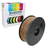 TIANSE Wood 3D Printer Filament 1.75mm 1KG Spool Filament for 3D Printing, Dimensional Accuracy +/- 0.03 mm (Color: Wood, Tamaño: 7.87'' * 7.87'' * 2.83'')