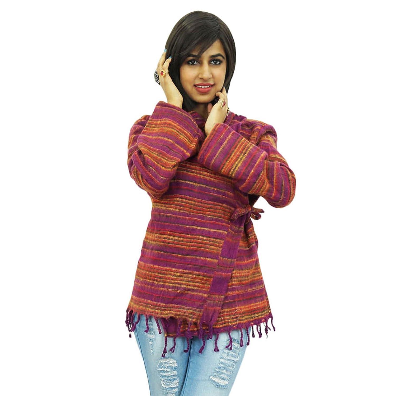 Hoch Hals Wollmischung Poncho Frauen indian Kleidung eine Nummer Freizeitkleidung Ponchos online kaufen
