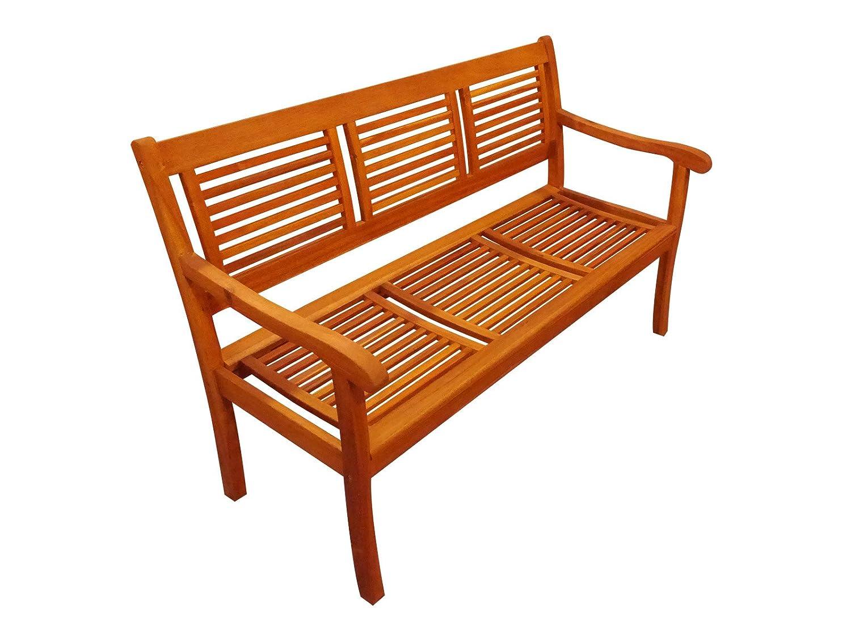 Gartenbank Cordoba 150 cm, aus Massivholz Akazie, 3-Sitzer, Akazie-Holz-Bank für Garten Balkon Terrasse, Holz-Bank aus Akazieholz, Hartholz Garten-Möbel