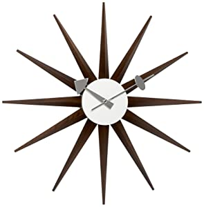 Vitra Sunburst Clock 20125303 Wall Clock 470 mm Walnut       Customer reviews