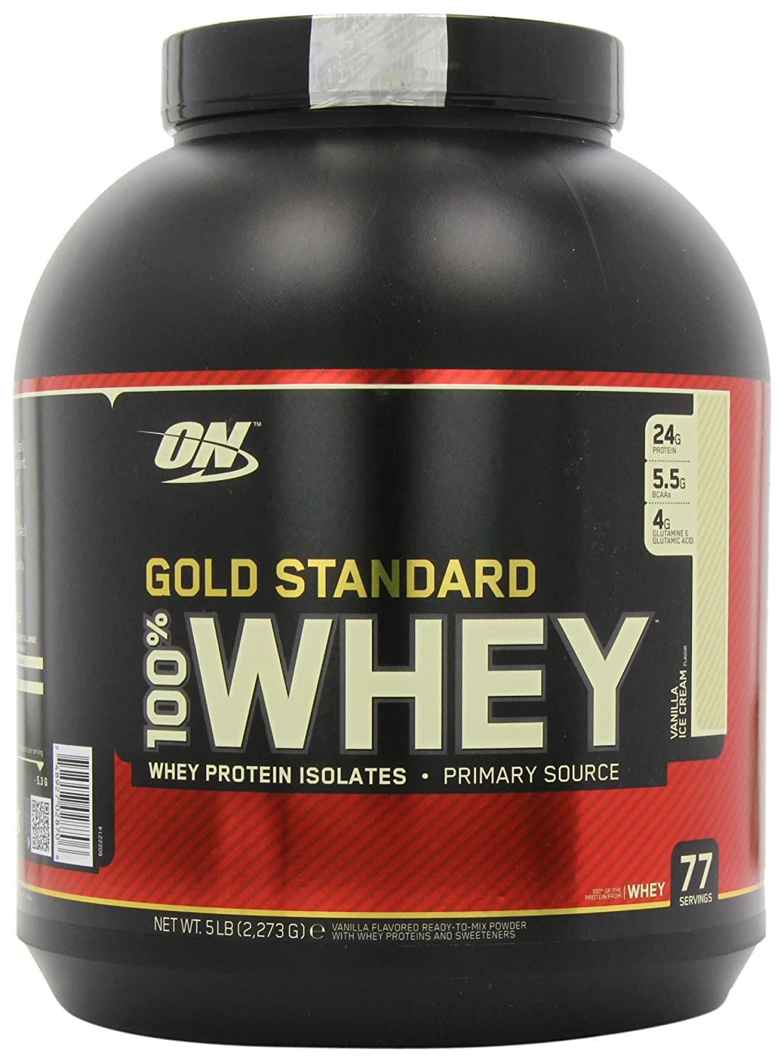 Optimum Nutrition 100% Whey Gold Standard, 5 Pound