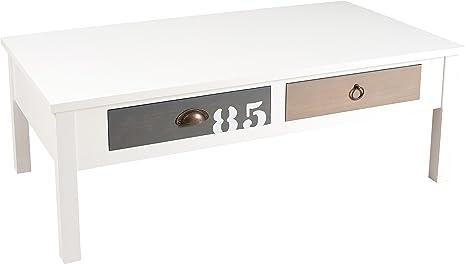 Nomadi Design 704006Tavolino con 4cassetti legno/MDF 60x 110x 40cm