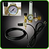 Hydroponics (Co2) Regulator Emitter System with Solenoid Valve Accurate and Easy to Adjust Flow Meter Made of High Quality Brass - Shorten up and Double Your Time for Harvesting - Not for Aquarium Use