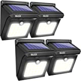 BAXIA TECHNOLOGY BX-SL-101 Solar Lights Outdoor 28 LED Wireless Waterproof Security Solar Motion Sensor Lights, (400LM,4 Packs) (Renewed) (Color: 4pack, Tamaño: 4-PACK(28LED))