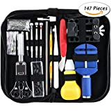 Watch Repair Kit Professional 147 PCS Spring Bar Tool Watch Link Remover Band Pin Back Case Opener Tools
