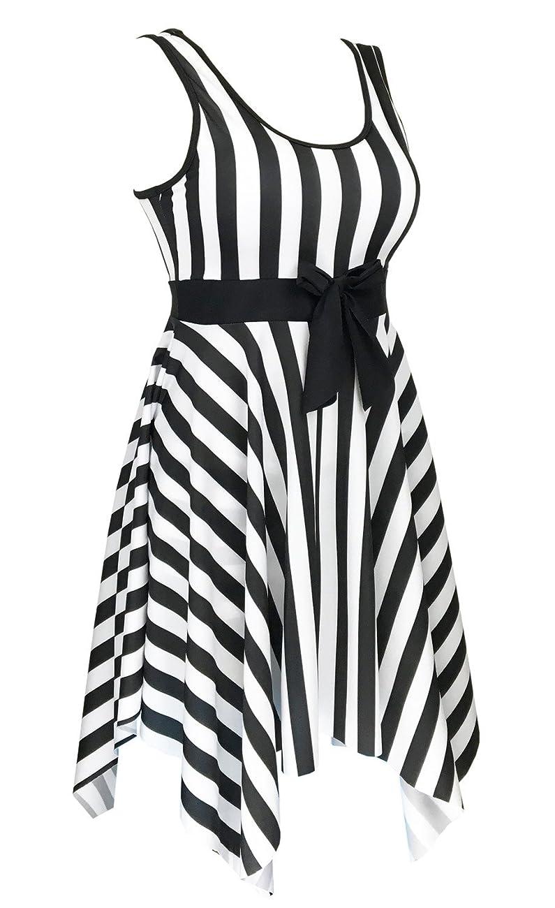 Women's One Piece Swimsuit Sailor Vintage Bathing Suit Plus Size Swimdress 1