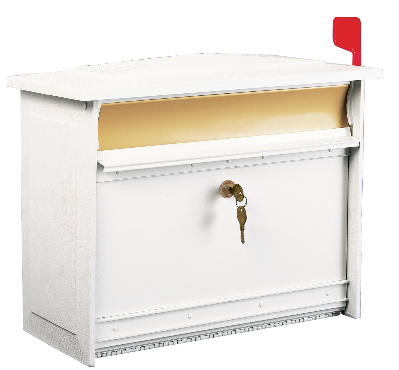 Wall Mailbox With Flag Wall Mount Mailbox White