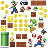 RoomMates RMK2351SCS Nintendo Super Mario Build a Scene Peel and Stick Wall Decal, 45 Count (Color: Multi, Tamaño: 8