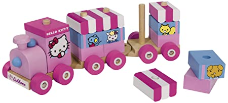 Eichhorn - 100003130 - Jouet Premier Age - Hello Kitty Train en Bois