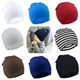 DRESHOW BQUBO 8 Pack Unisex Baby Beanie Hat Infant Baby Soft Cute Knit Cap Nursery Beanie (Color: 8 Pack B, Tamaño: 2-6 Year)