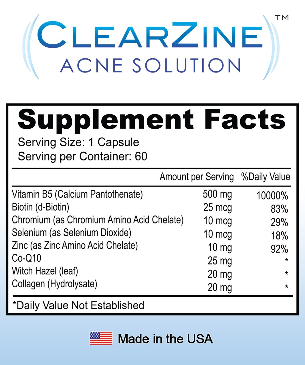 acne review clearzine solution scam