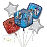 Andaz Press Balloon Bouquet Party Kit with Gold Cards & Gifts Sign, Star Wars 8 Foil Mylar Balloon Decorations, 1-Set (Color: Birthday Star Wars 8)