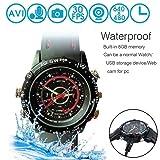 Winhy Waterproof 8GB Spy Wrist Watch HP/DVR Video Hidden Mini Camera Cam Camcorder (Color: Black)