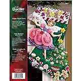 Bucilla 18-Inch Christmas Stocking Felt Applique Kit, 85431 Sugar Plum Fairy (Color: 18 Long)