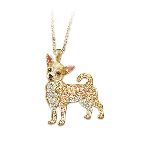 Chihuahua Crystal Pendant Necklace by The Bradford Exchange