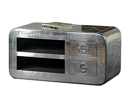 Sit-Möbel 1715-21 bajo las fuerzas aéreas, 2 bolsillos abiertos, 2 cajones, de metal con tornillos ornamentales provista de, aproximadamente 100 x 45 x 50 cm