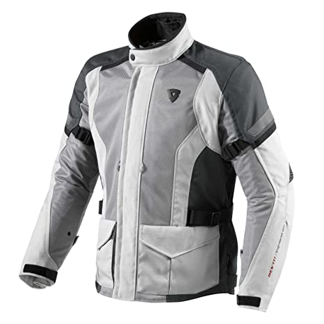 FJT152 4130-XYL - Rev It Levante Motorcycle Jacket 3XL Silver-Anthracite