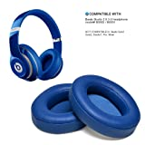 Blue Replacement Earpads, AGPtEK 2 Pieces Foam Ear Pad Cushion for Beats Studio 2.0 Wired/ Wireless B0500 B0501 Headphone & Beats Studio 3.0 (Color: Blue)