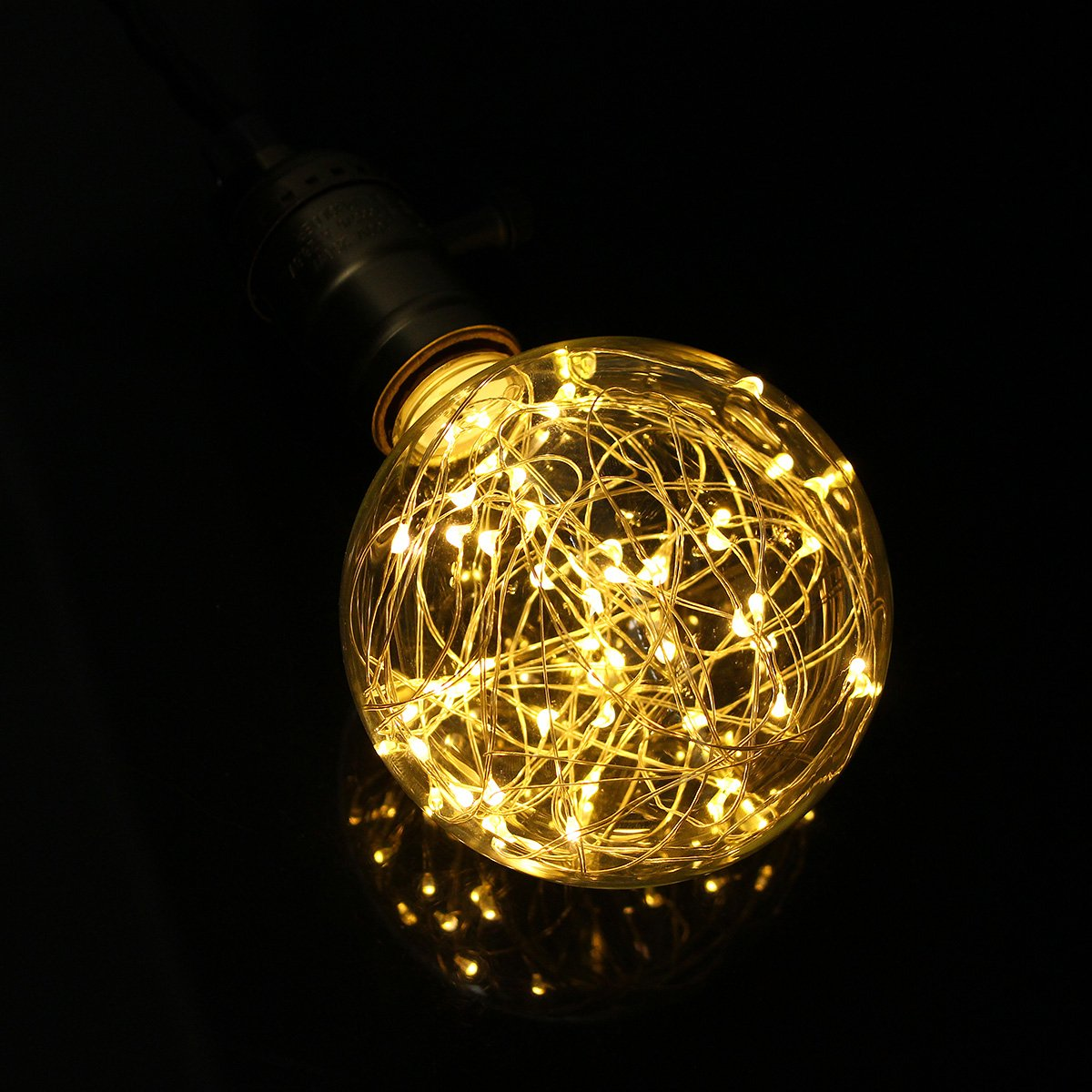 KINGSO G95 Vintage Edison Bulb,E27 Base 3W 300LM Antique Filament Globe Spiral Design LED Lights for Christmas Home Party Cafes Bars Decoration Warm White 2