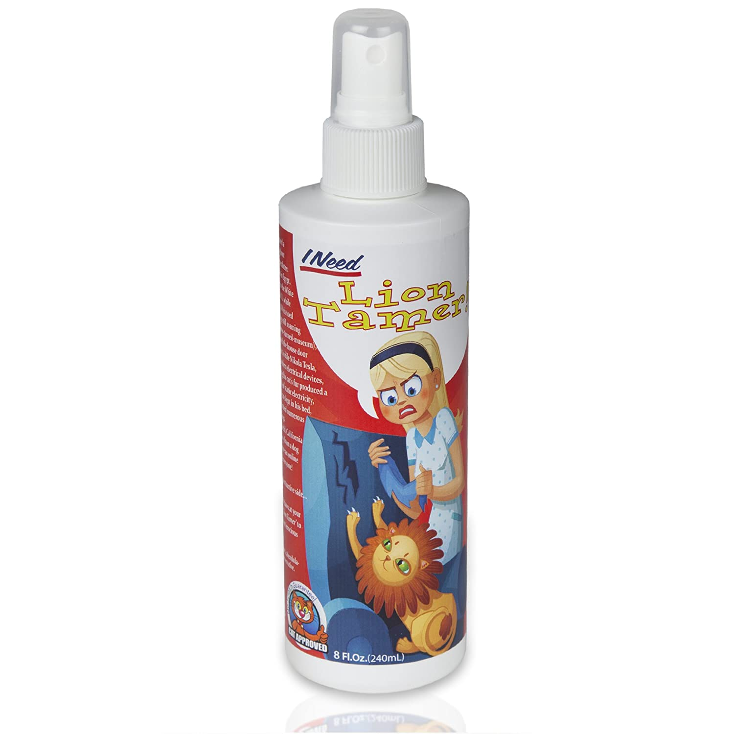 Lion Tamer No Scratch Cat Spray 8oz - 100% Natural and Safe Cat Repellent. New Formula
