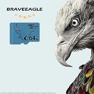 BRAVEEAGLE 5 Pack Micro SD Card 64GB Class 10 U1 Memory Card 5 Pack SD Card High Speed for Galaxy Note/Camera Wyze/Samsung/Dashcam/DJI Drone (5 Pack x 64GB U1) (Color: U1 64GB-5 Pack)