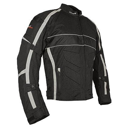 Roleff Racewear 5493 Blouson de Moto d'été York en Tissu Gris