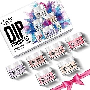 Dip Powder Set Dipping Powder Refill Set 6 Dip Powder Colors 0.83oz for Nail Dip Kit Easy Use for Nail Dipping Powder Starter Kit No UV/LED Lamp Needed. (Color: Nail Art1)