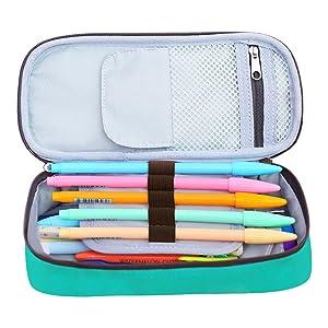 Homecube Big Capacity Pencil Case, Green (Color: Green)