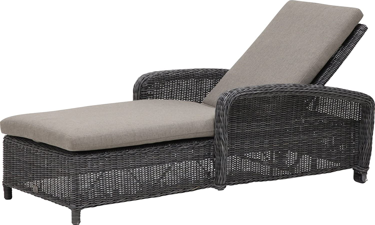 4Seasons Somerset Rollenliege Geflecht Charcoal incl. Kissen günstig