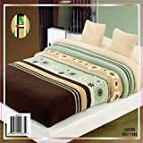 Queen Blanket Thick Sumptuously Soft Plush Faux Fur Sage/brown Borrego / Microfiber Reversible Winter Blankets Throw Bedspread Ace 018