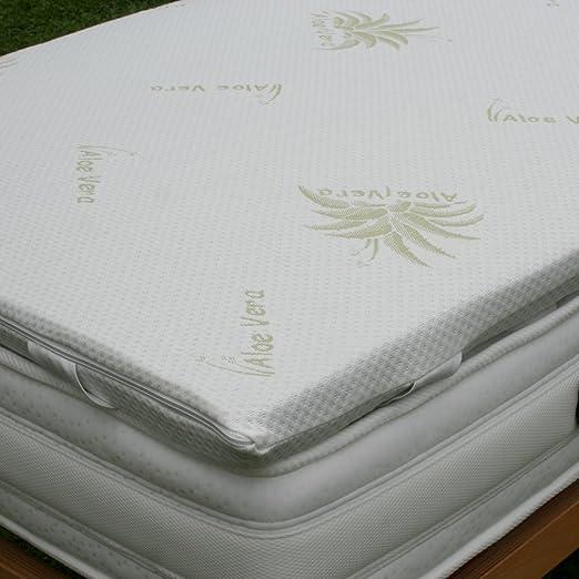 TOPPER 100% Puro Lattice Naturale Correttore per Materasso o Sovramaterasso Tessuto Aloe Vera king size 200x200