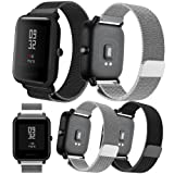 For Xiaomi Amazfit Bip Younth band,Senter 20mm Milanese Loop Adjustable Stainless Steel Replacement Strap band for Xiaomi Huami Amazfit Bip Younth/Samsung Gear Sport/Garmin Vivoactive 3 smart watch (Color: 2 Colors)