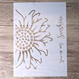 DIY Decorative Sunflower Stencil Template for Painting on Walls Furniture Crafts (A4 Size) (Tamaño: A4 Size)