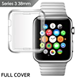 IOVECT iwatch 3 Case 38mm,TPU All-around 0.3mm Full Cover for New Apple Watch Series 3(2017) (Color: transparency)