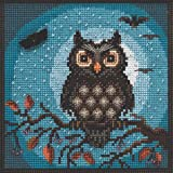 Midnight Owl Beaded Counted Cross Stitch Kit Mill Hill 2019 Buttons & Beads Autumn MH141922 (Color: multi)
