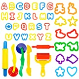 Deardeer 44 Pieces Play Dough Tools Set with Molds and Models Art Dough Play Set for Children Kids (Color: 44 Pcs Dough Tools)