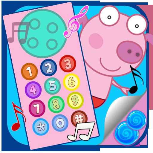 peka-pig-funny-phone